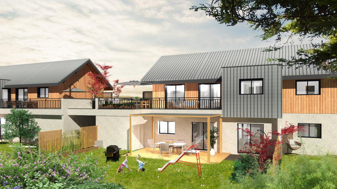 Résidence de 6 logements avec jardin ou vaste terrasse
